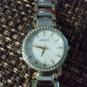 DKNY Mother of Pearl Face Watch